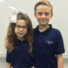 Ellie Anna (Kindergarten) & Dawson (5th grade)
